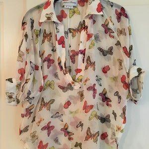 Fifteen Twenty Butterfly Blouse